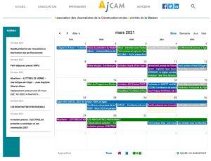 Agenda de l'Ajcam 2021
